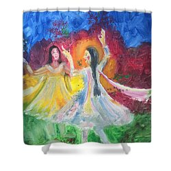 Holi-festival Of Colors Shower Curtain