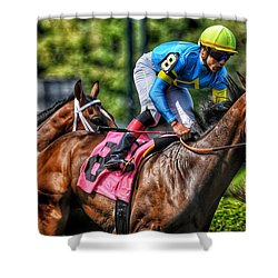 Holiday Bonus W Irad Ortiz,jr Shower Curtain