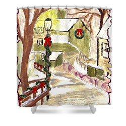 Holiday Card 01 Shower Curtain