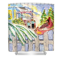 Holiday Card 05 Shower Curtain