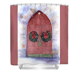 Holiday Chapel Shower Curtain