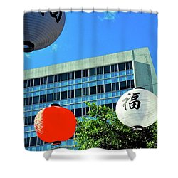 Holiday Decorations In Little Tokyo Shower Curtain