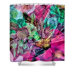 Holiday Floral Composite Shower Curtain by Janice Drew