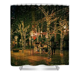 Holiday Handsome Cab Shower Curtain