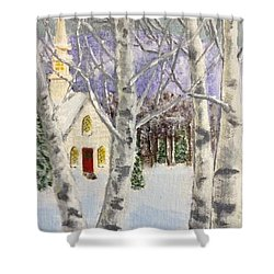 Holiday In The Country Shower Curtain