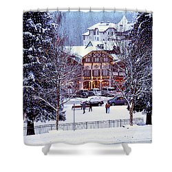 Holiday In The Village Shower Curtain