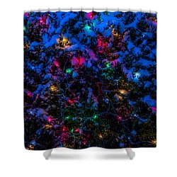 Holiday Lights In Snow Shower Curtain