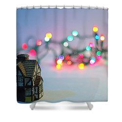 Holiday Lights Shower Curtain by John Rossman