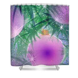 Holiday Lights Shower Curtain