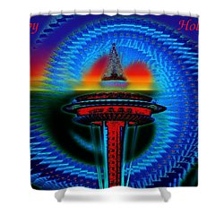 Holiday Needle 2 Shower Curtain by Tim Allen