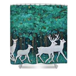 Holiday Season Dance Shower Curtain