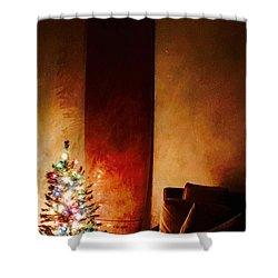 Holiday Surfboard Shower Curtain