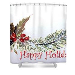 Holidays Card - 2 Shower Curtain by Dorothy Maier