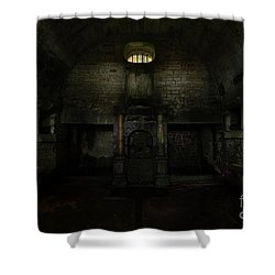 Hollinshead Hall Well House Shower Curtain by Steev Stamford