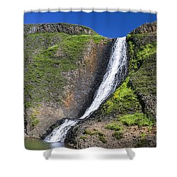 Hollow Falls At Table Mountain Shower Curtain