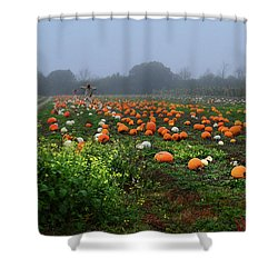 Halloween Aftermath Shower Curtain by Laura Ragland