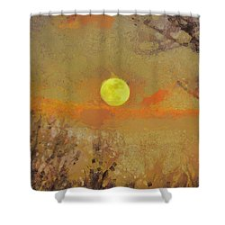 Shower Curtain featuring the mixed media Hollow's Eve by Trish Tritz