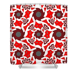 Holly Abstract Shower Curtain by Jim Pavelle