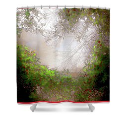 Shower Curtain featuring the photograph Holly Heart by Bonnie Willis