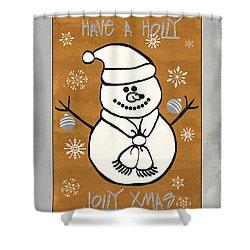 Holly Holly Xmas Shower Curtain