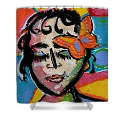 Holly - Vivid Vixen Shower Curtain