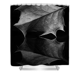 Holly Leaf Shower Curtain