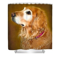 Holly Shower Curtain by Marion Johnson