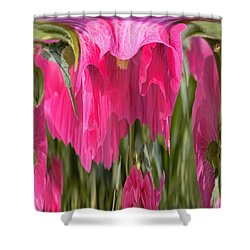 Hollyhock Drape Abstract Shower Curtain