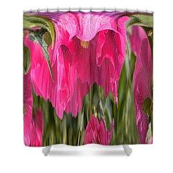 Hollyhock Drape Abstract Shower Curtain by Aliceann Carlton