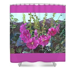 Hollyhock Necklace Shower Curtain