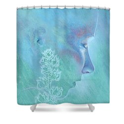 Shower Curtain featuring the painting Hollyhock by Ragen Mendenhall