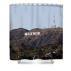 Hollywood And Helicopters Shower Curtain