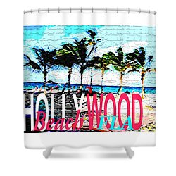 Hollywood Beach Fla Poster Shower Curtain