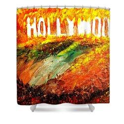 Hollywood Burning Shower Curtain