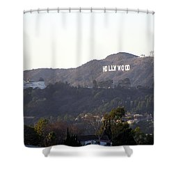 Hollywood Hills And Griffith Observatory Shower Curtain