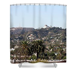 Hollywood Hills From Sunset Blvd Shower Curtain