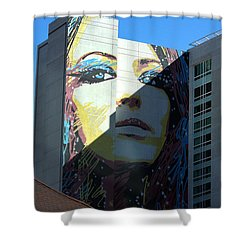 Shower Curtain featuring the photograph Hollywood Landmarks - Mural by Art Block Collections