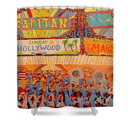 Hollywood Parade Shower Curtain