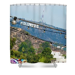 Shower Curtain featuring the photograph Hollywood Sign On The Hill 1 by Micah May