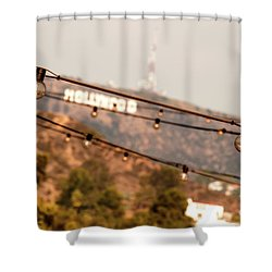 Shower Curtain featuring the photograph Hollywood Sign On The Hill 2 by Micah May