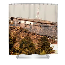 Shower Curtain featuring the photograph Hollywood Sign On The Hill 3 by Micah May