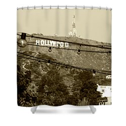 Shower Curtain featuring the photograph Hollywood Sign On The Hill 4 by Micah May