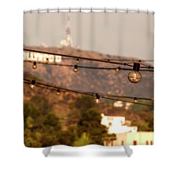 Shower Curtain featuring the photograph Hollywood Sign On The Hill 5 by Micah May
