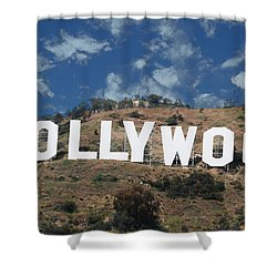 Hollywood Sign Shower Curtain by Robert Hebert