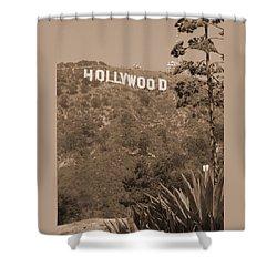 Hollywood Signage Shower Curtain