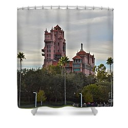 Hollywood Studios Tower Of Terror Shower Curtain