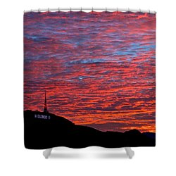 Hollywood Sunrise Shower Curtain
