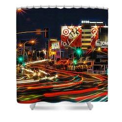Hollywood Sunset Strip Shower Curtain