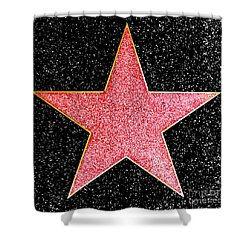 Hollywood Walk Of Fame Star Shower Curtain
