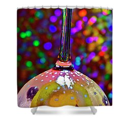 Holographic Fruit Drop Shower Curtain by Xn Tyler